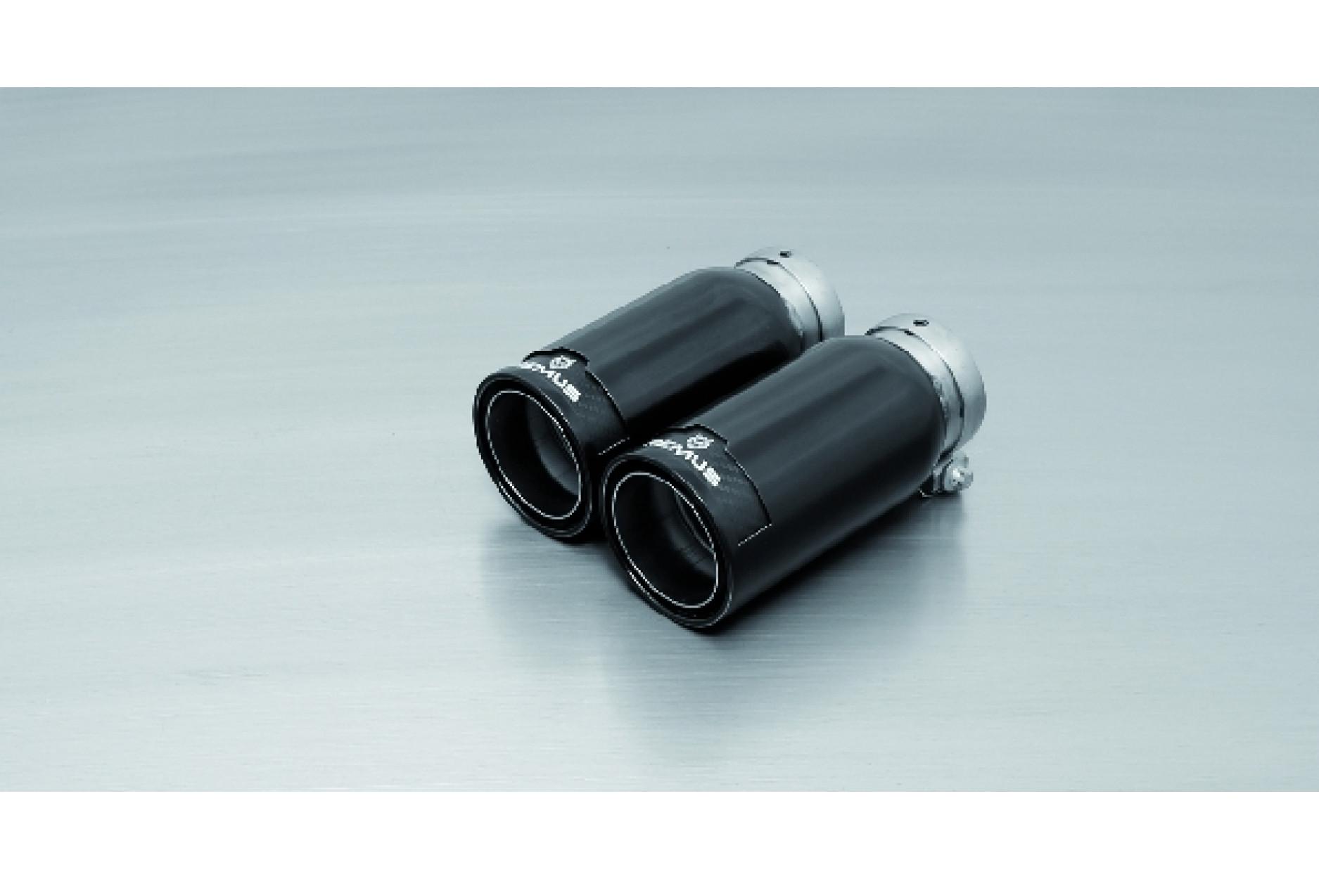Remus 0026 83CB Endrohr-Set 2 x Ø 84 mm StreetRace Black Chrome