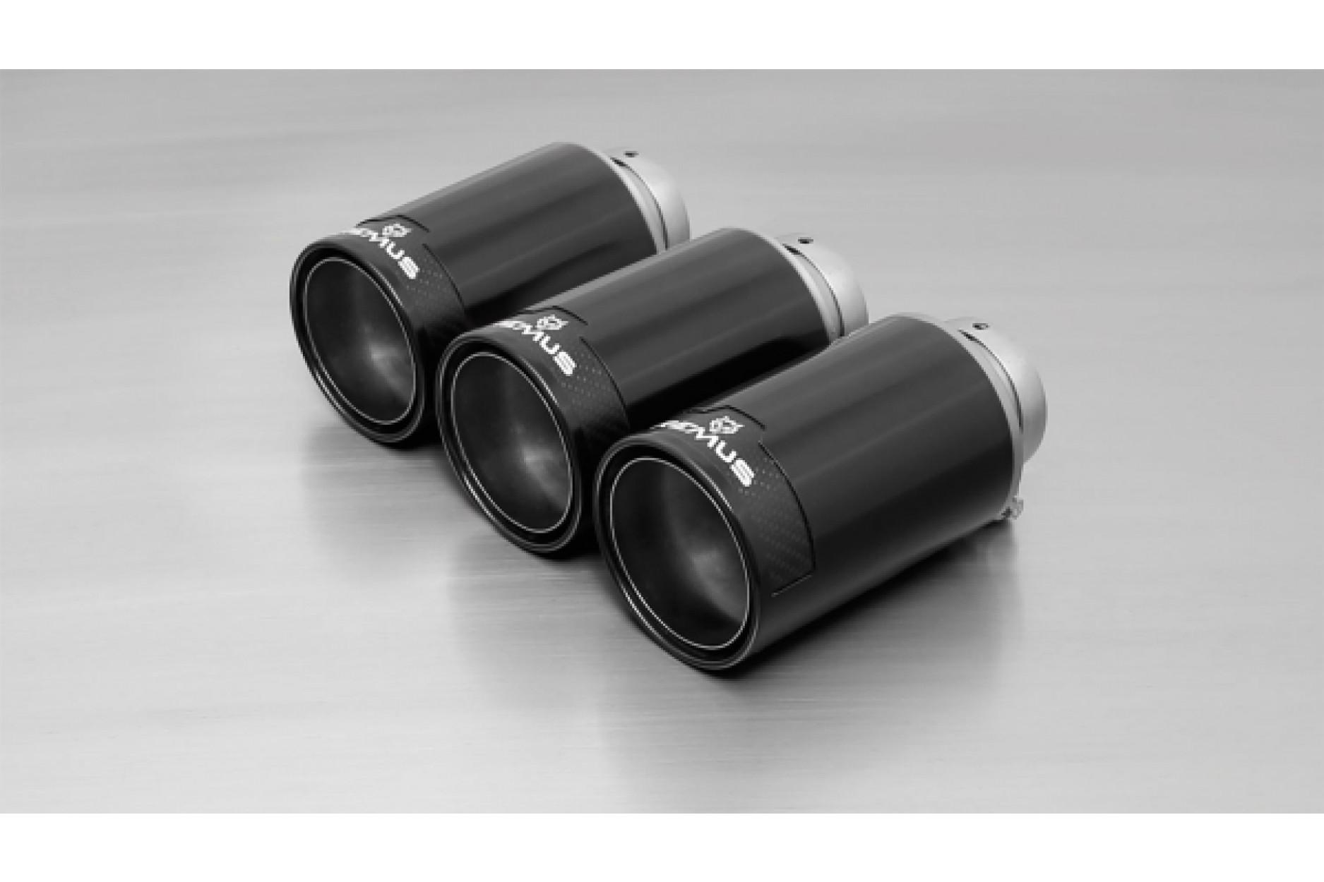 Remus 0036 98CB Endrohr-Set 3 x Ø 98 mm Street Race Black Chrome
