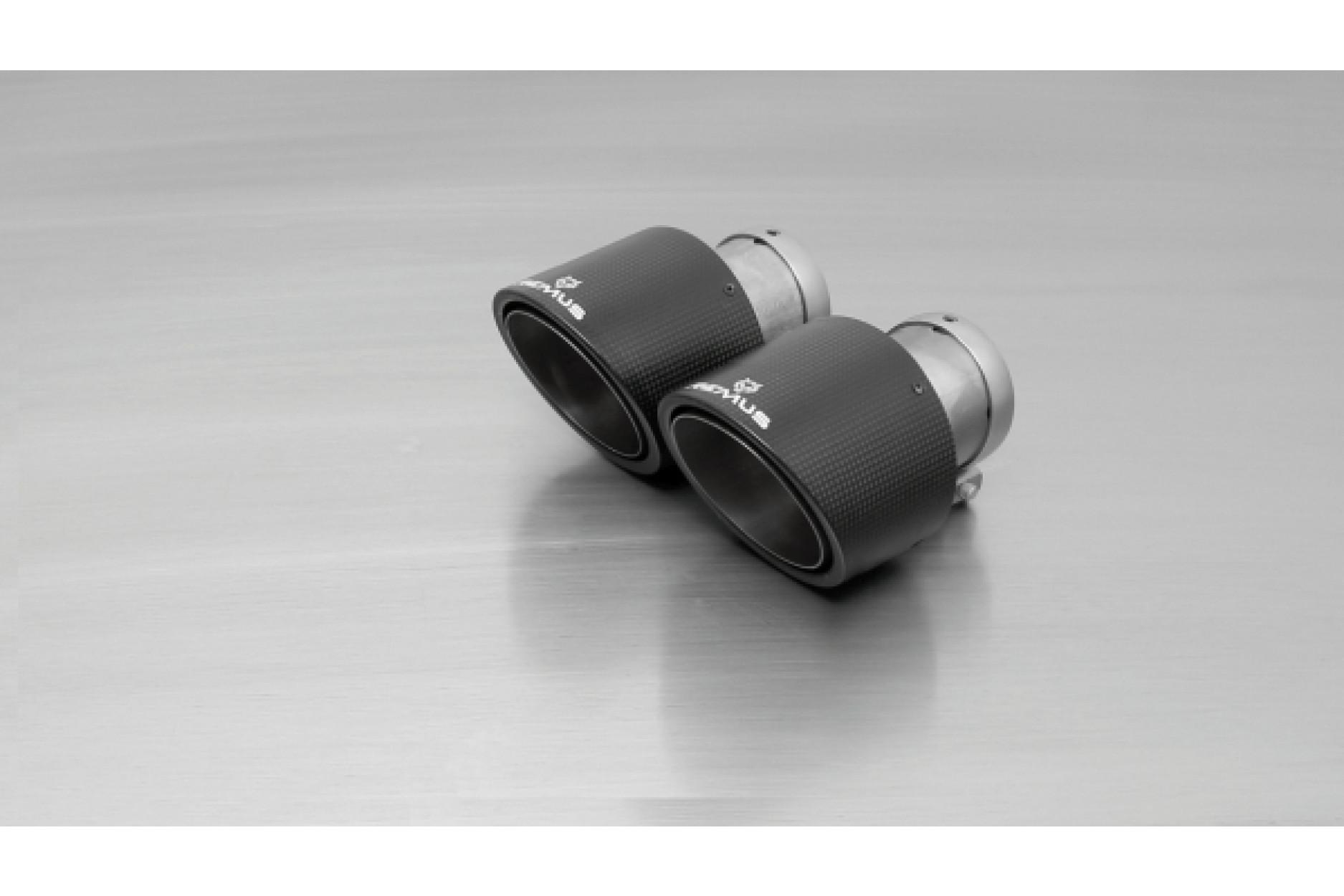 Remus 0426 70CS ER-Set 2 x Ø 102 mm schräg Carbon/Titan
