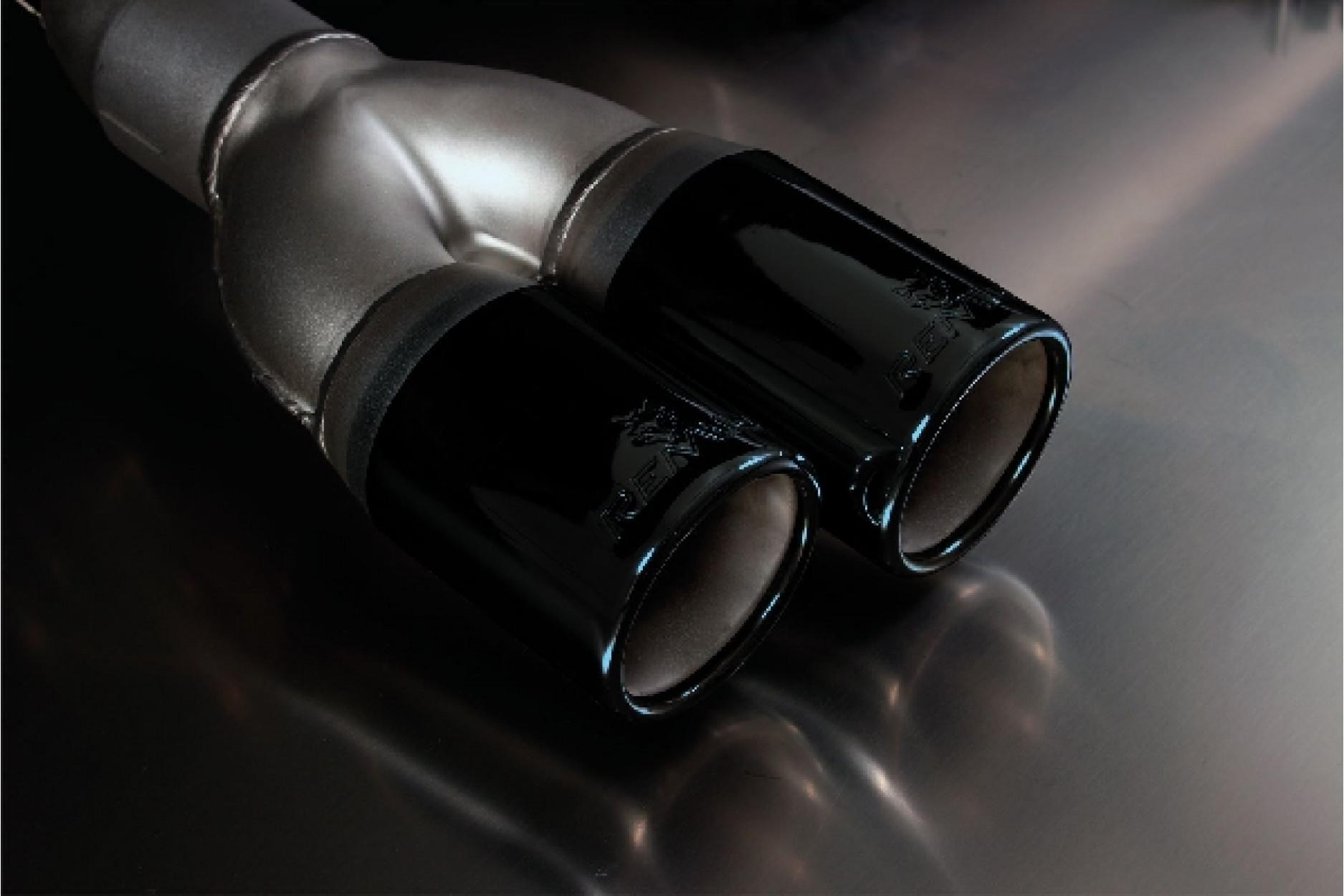 Remus 086012 1604B Endrohr-Set Li/Re je 2 Endrohr Ø 76 mm Black Chrome