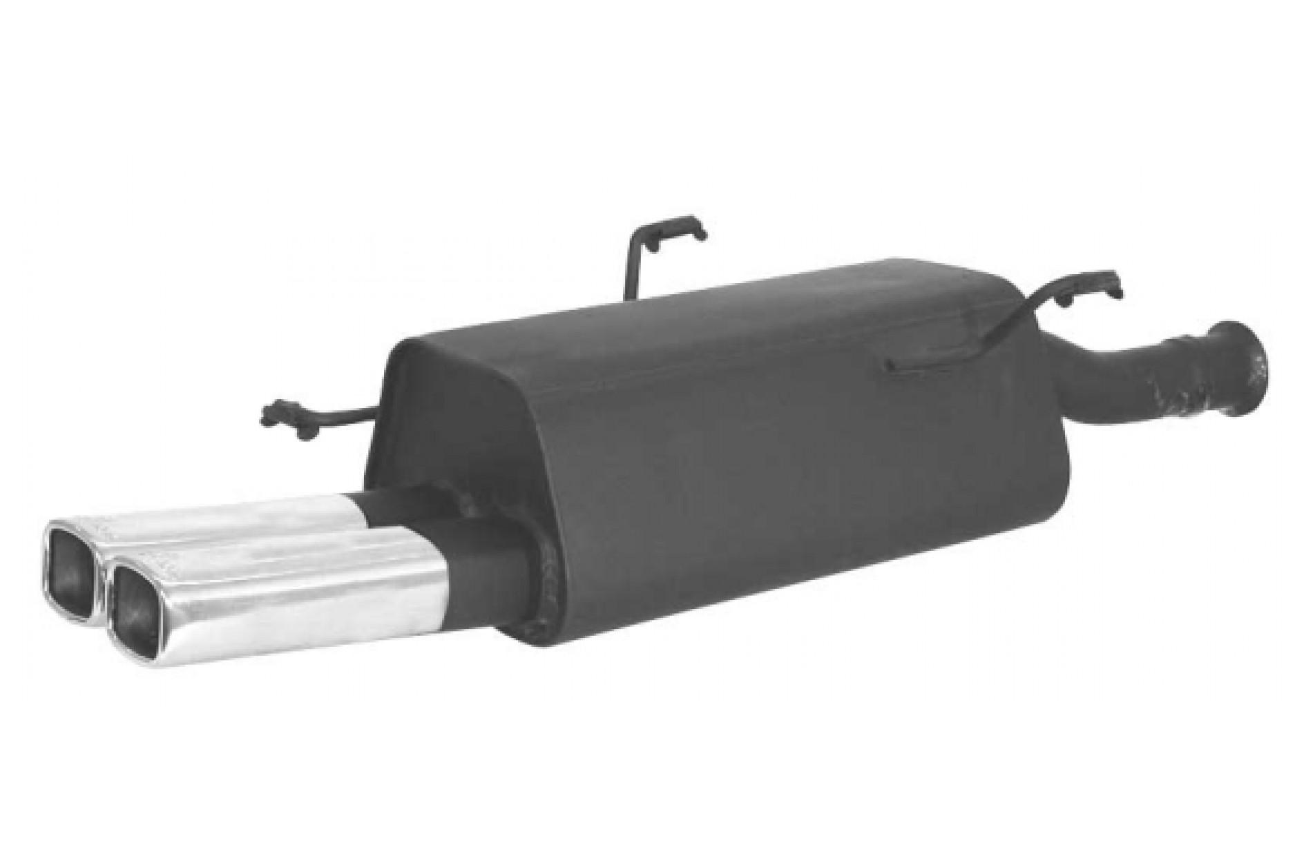 Remus Sportschalldämpfer mit 2 Endrohren 80x65 mm