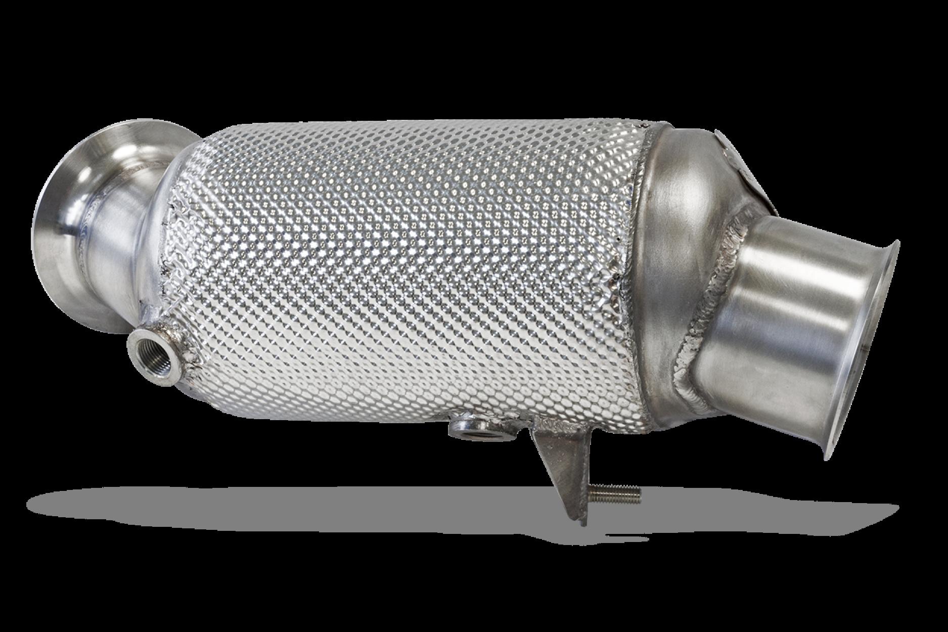 HJS 90 81 2015 80mm Edelstahl Downpipe mit ECE Kat