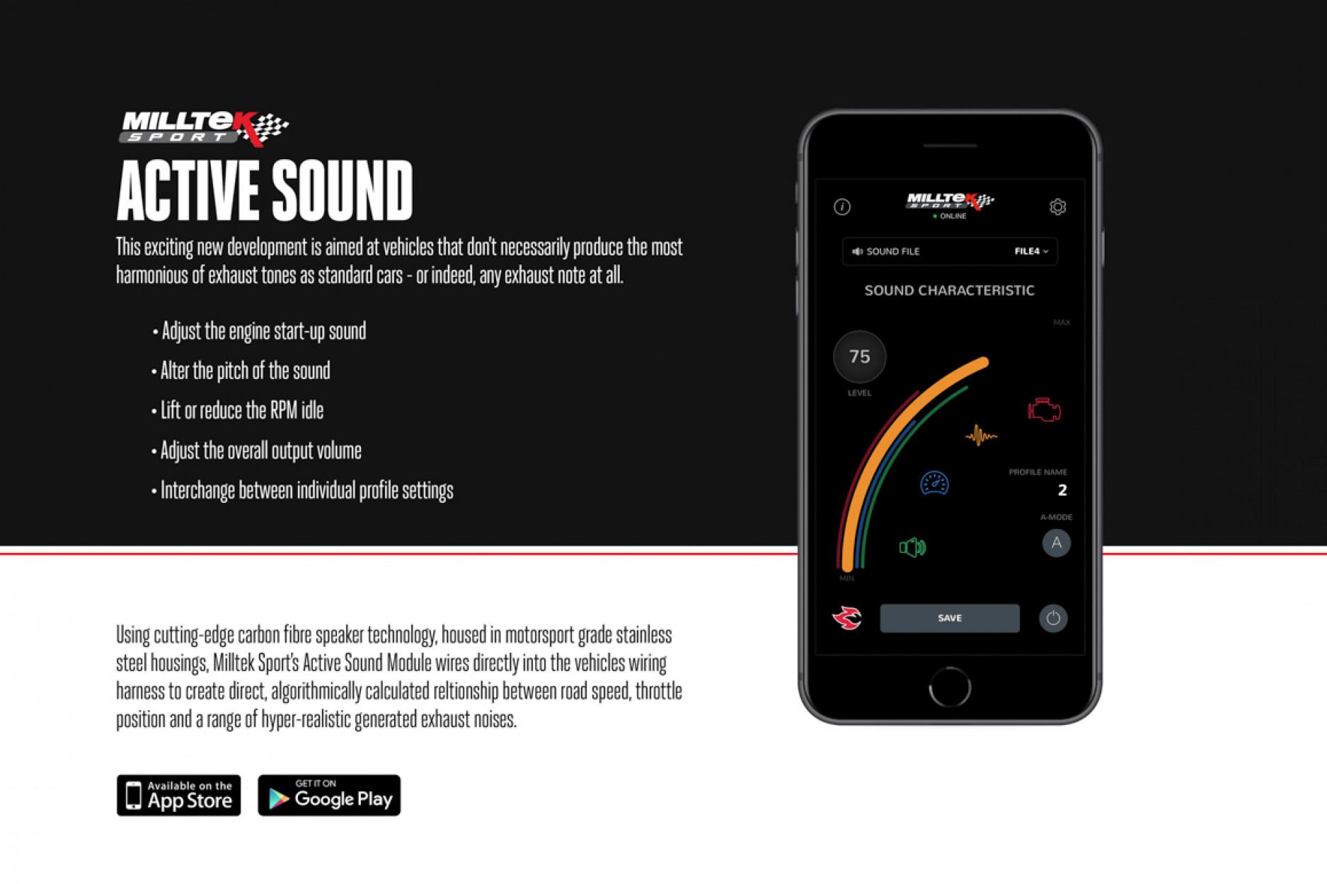 Milltek Active Sound Control SSXAU668