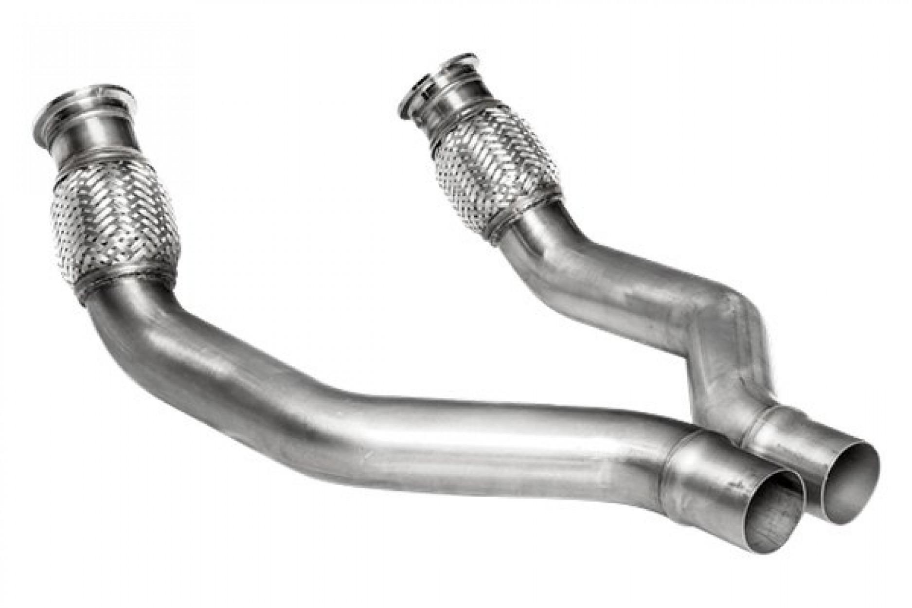 Akrapovic Link pipe set (SS) - für Audi Sport Akrapovic system Kat Ersatzrohr