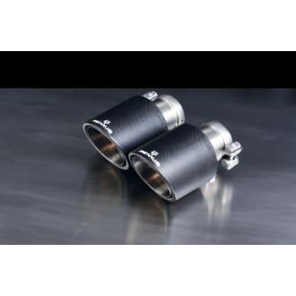 Remus 0446 70CS Endrohr-Set 4 Endrohre Ø 102 mm Carbon/Titan