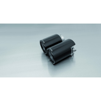 Remus 0046 70QBSS Endrohr-Set 4 x Ø 102 mm schräg/schräg, Black Chrome