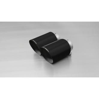 Remus 0026 80SAB Endrohr-Set 2 x Ø 115 mm schräg, Black Chrome