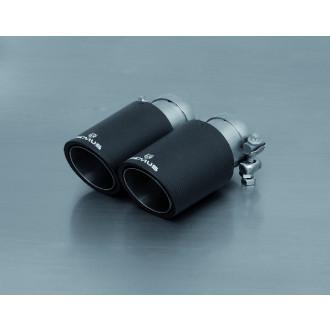 Remus 0046 83CTS Endrohr-Set 4 x Ø 84 mm Carbon/Titan schräg