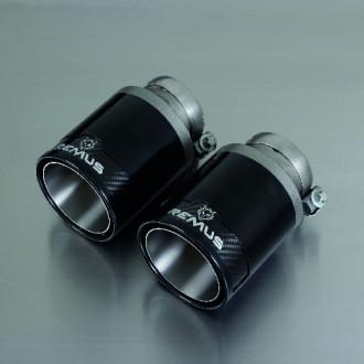 Remus 0027 98CB Endrohr-Set 2 x Ø 98 mm StreetRace BlackChrome
