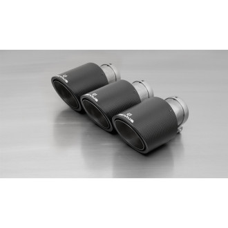 Remus 0036 70CS Endrohr-Set 3 x Ø 102 mm Carbon/Titan schräg