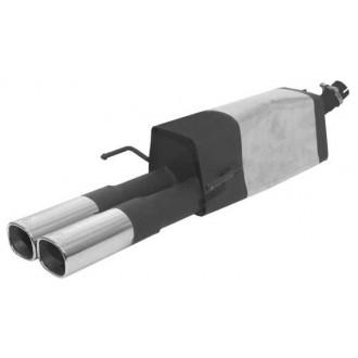 Remus Sportschalldämpfer mit 2 Endrohren 92x78 mm