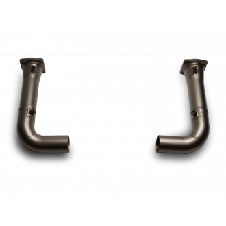 Akrapovic Link-pipe Set (Titan) Kat Ersatzrohr
