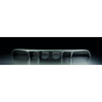 Remus 951303 HES Heckschuerzeneinsatz (ABS) mittig, Carbon Look