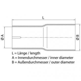 Remus AD0014 Adapter X/Z; L100; i55,2 auf a60; einseitig 2x geschl
